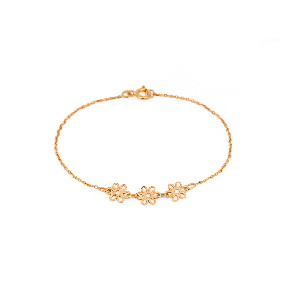 Bracelet Pâquerette - Or rose