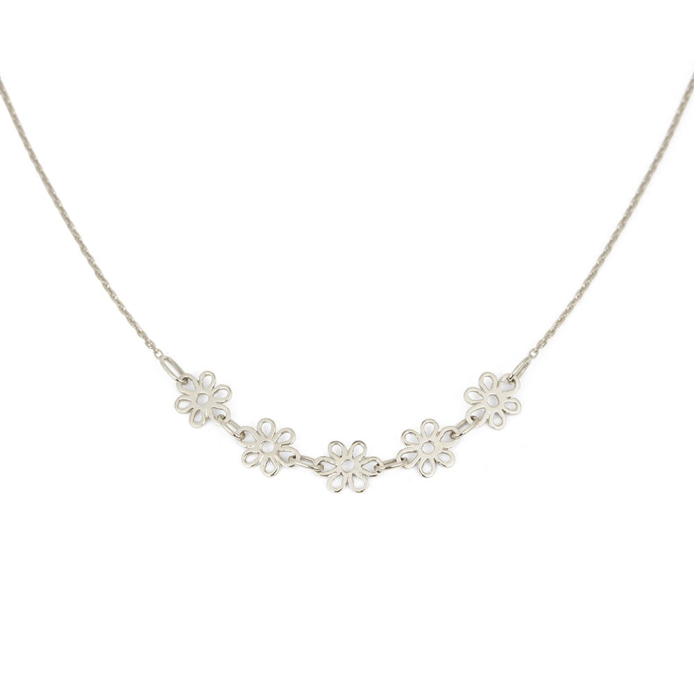 Collier Pâquerette - Or blanc