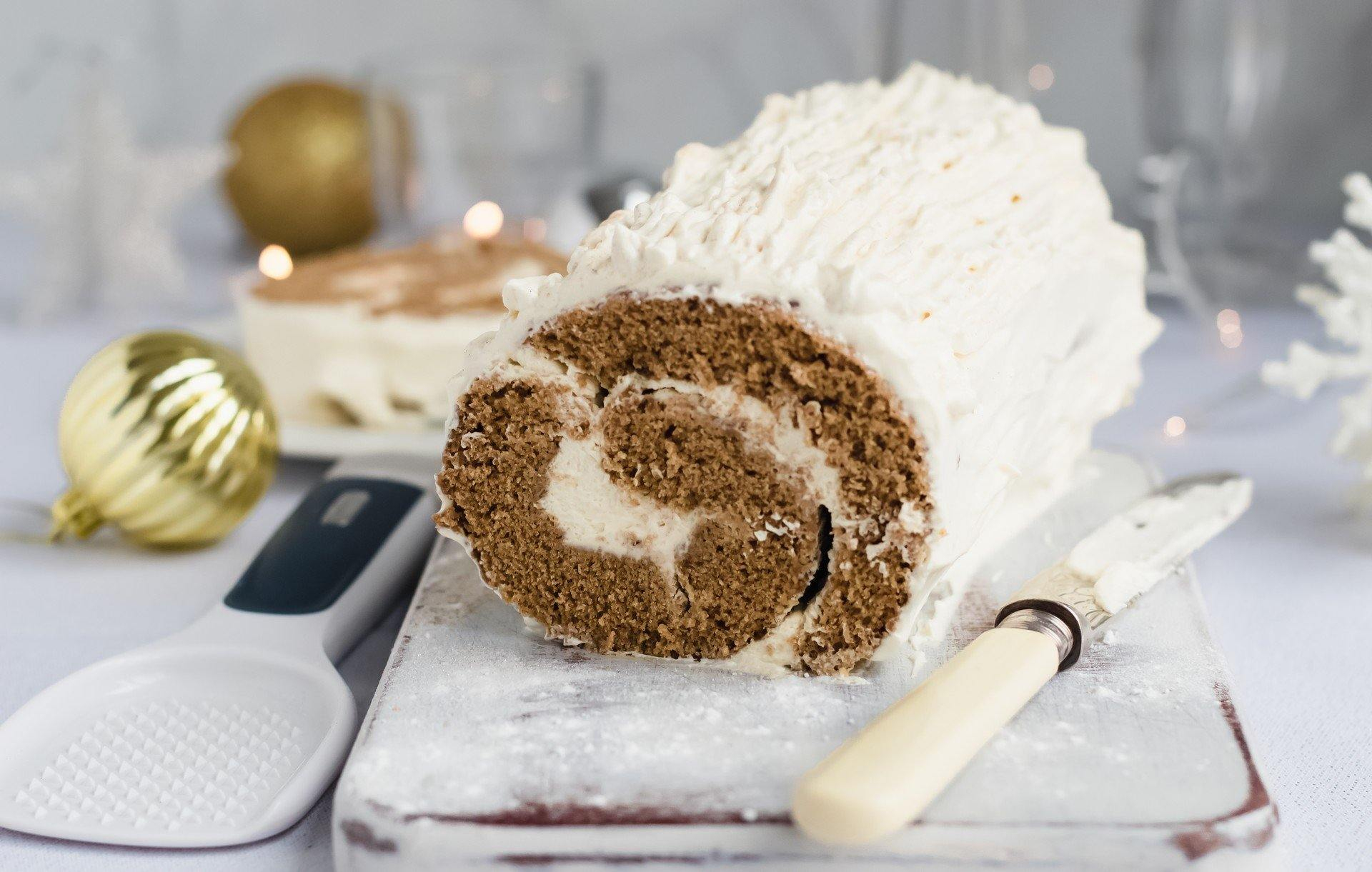 Ginger Yule Log with Irish Cream