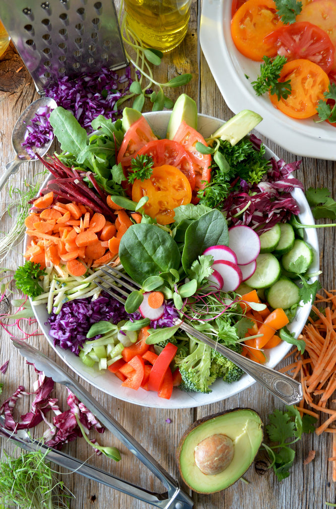 Chopped Colourful Salad In Bowl