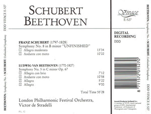"BEETHOVEN - Symphony No 5 & SCHUBERT - Symphony No 8 ""Unfinished"" (CD)"