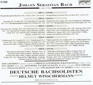 Johann Sebastian BACH - 4 pack of CD's
