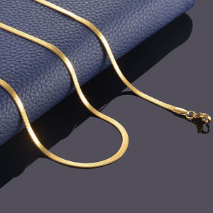 Filmy Snake Stainless Steel Flat Necklace.