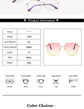 Load image into Gallery viewer, RBRARE Retro Alloy Luxury Square Sunglasses.
