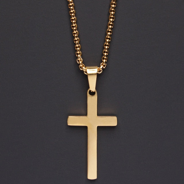 Stainless Steel Classic Cross Necklace.