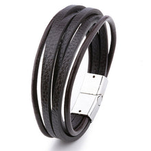 Load image into Gallery viewer, Multilayer Leather Bangles Bracelet.