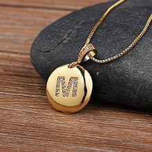 Load image into Gallery viewer, Women Girls Initial Letter Gold Necklace.