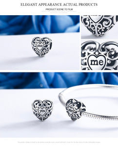 100% Authentic 925 Sterling Pandora Heart Shape Charm Beads.