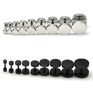 Barbell Punk Gothic Stainless Steel Earring.