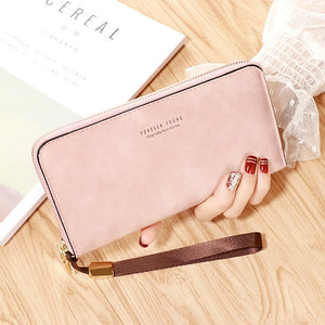 PU Leather Long Wallet.