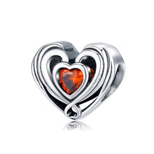 Load image into Gallery viewer, 100% Authentic 925 Sterling Pandora Heart Shape Charm Beads.