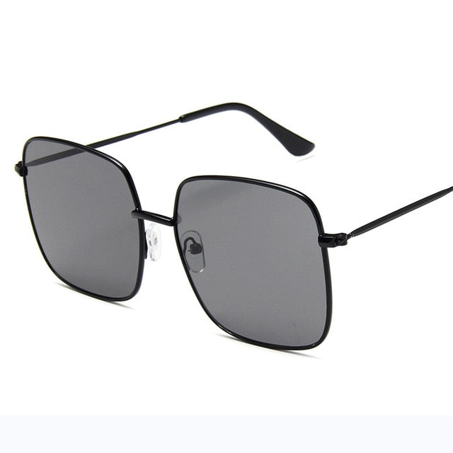 RBRARE Retro Alloy Luxury Square Sunglasses.