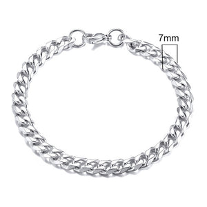 Vnox Stainless Steel Curb Cuban Bracelet.