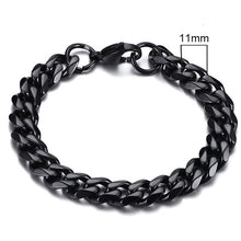 Load image into Gallery viewer, Vnox Stainless Steel Curb Cuban Bracelet.