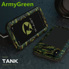 Load image into Gallery viewer, Heavy Duty Protection Doom armor Metal Aluminum phone Case for iPhone.