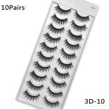 Load image into Gallery viewer, 5/10Pairs HandMade Mink Eyelashes.