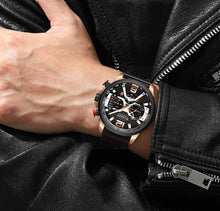 Load image into Gallery viewer, CURREN Luxury Military Leather Casual Watch.