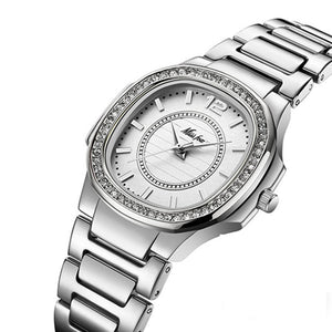 Geneva Diamond Quartz Watch.