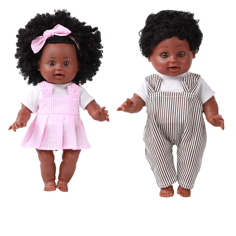 African Black Doll Handmade Baby toy for Kids Gifts for Boy Girl