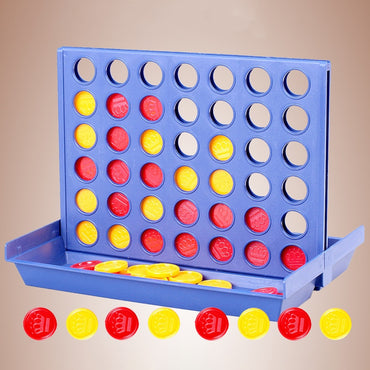 Connect 4 Game Foldable Montessoro Educational Kids Math Funny Toy.