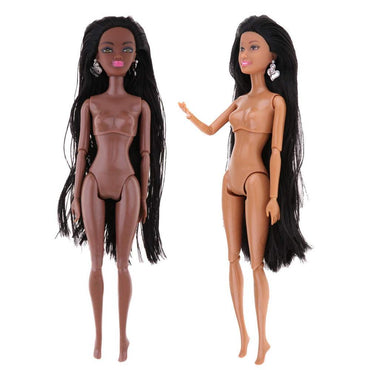 Kids Black Nude Doll Body Naked African Body DIY Toy Doll Accessories