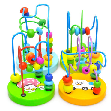 Montessori Wood Circles Bead Maze Toys Educational Toy For Children