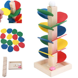 Kids Wooden Tree Marble Ball Run Track Game Montessori Educational toy