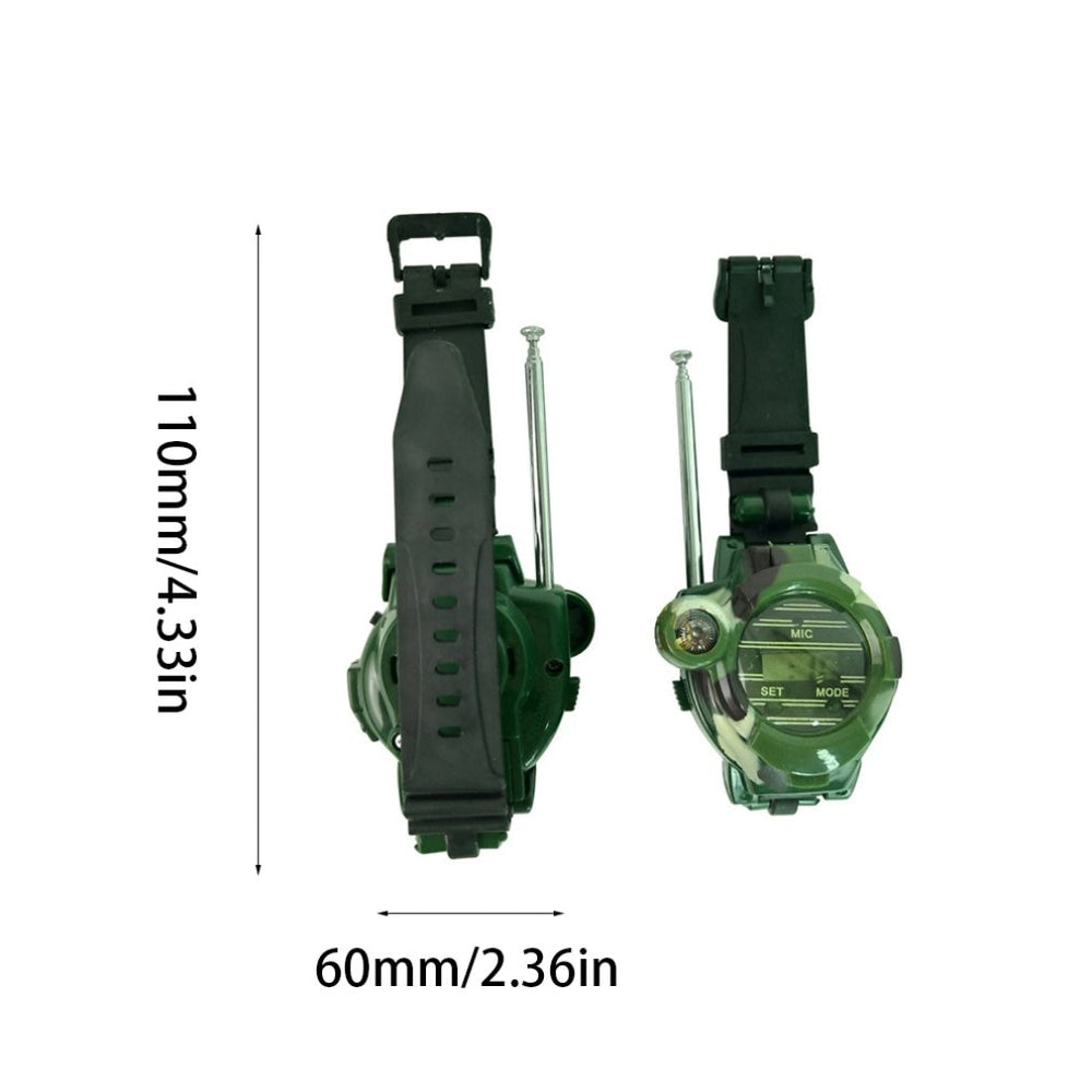 2pcs 7 in 1 Camouflage Walkie Talkie Watches Toys for Kids