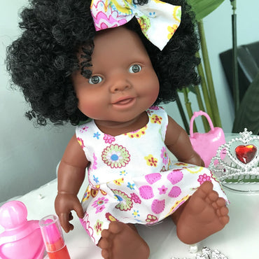 Baby Movable Joint African Doll Best Christmas Gift toy for kids