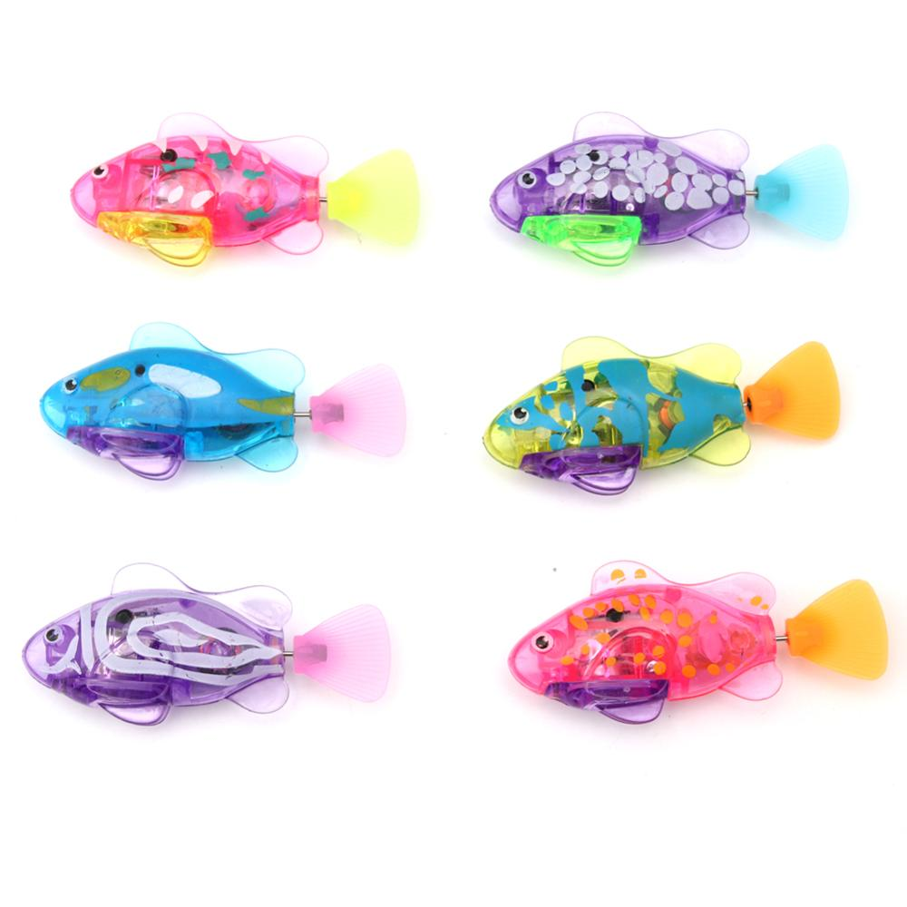 Swimming Electronic Fish Activated Battery Powered Toy For Children