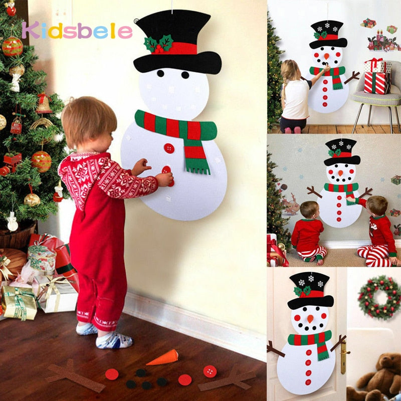 Christmas Tree Kids Educational Toys for Kindergarten Crafts Snowman