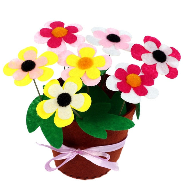 Crafts Kids DIY Flower Potted Plant Kindergarten Toys for Children