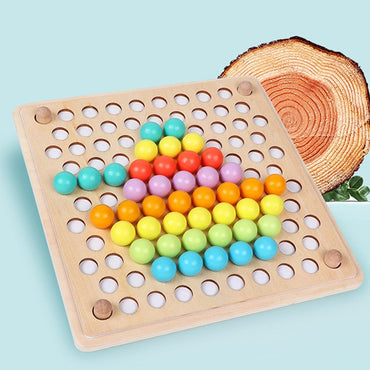 Kids Montessori Wooden Toy Brain Training Beads Puzzle Board Math Game