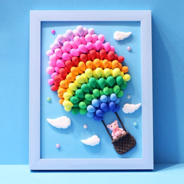 DIY Super Light Weight Clay Photo Frame Set Colorful  Kids Art Toys.