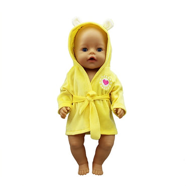 bathrobe Doll Clothes Born Babies Fit 17 inch 43cm Doll Toys for kids