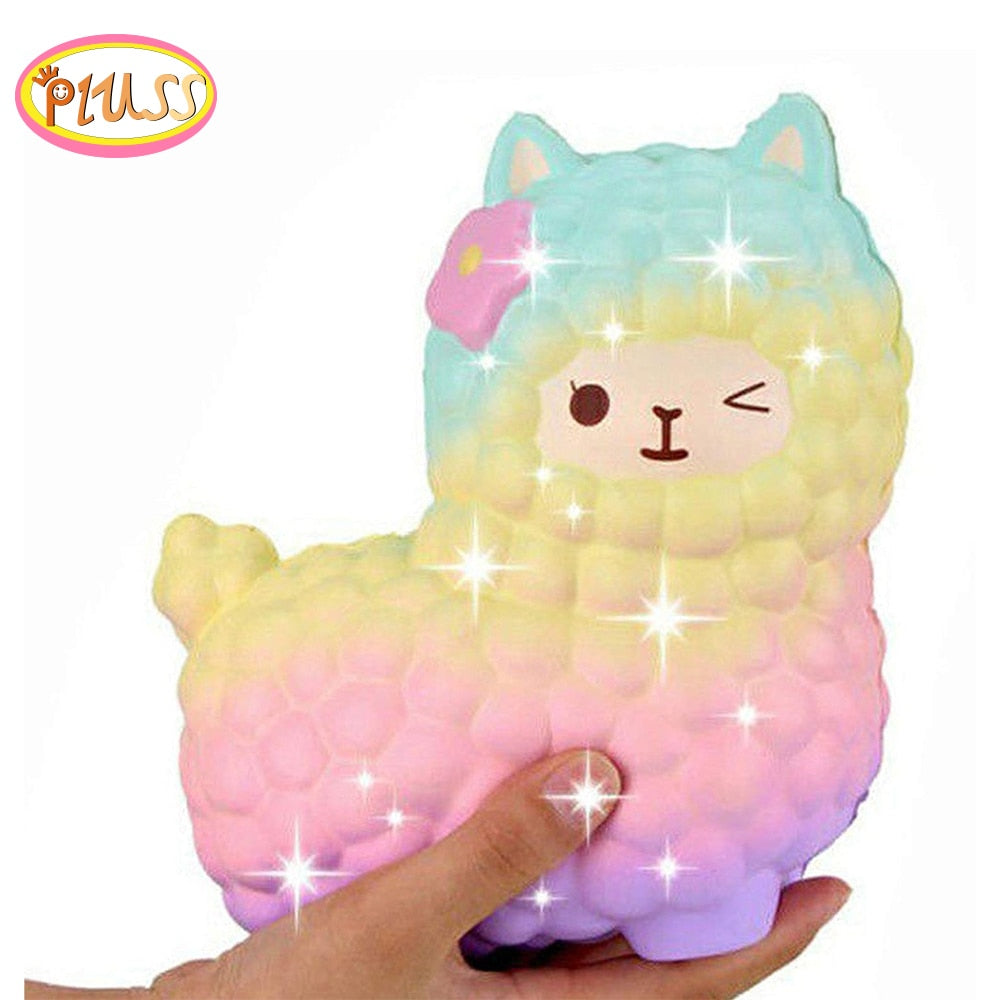 jumbo sheep alpaca squishy cute galaxy slow rising animal Toy for kids