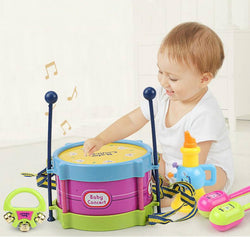 Kids Drum Trumpet Music Percussion Instrument Kit Early Learning toys