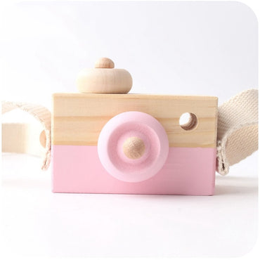 Baby Wooden  Hanging Camera  Room Decor Fashion pendant Toys for kids