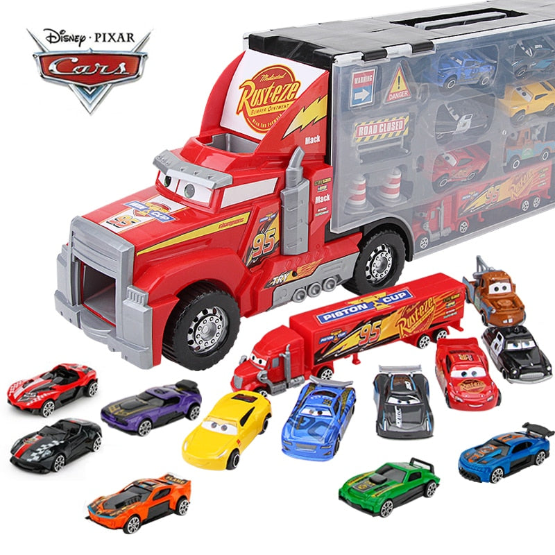Kids14Pcs/set Disney Pixar Cars 3 Mack Uncle Truck Toy Car Set