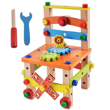 Wooden Assembling Chair Montessori Toys for kids