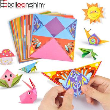 Kids 3D 54Pages Origami Cartoon Animal Book learning educational Toy
