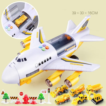Music Story Simulation Children's Toy Aircraft Passenger Plane