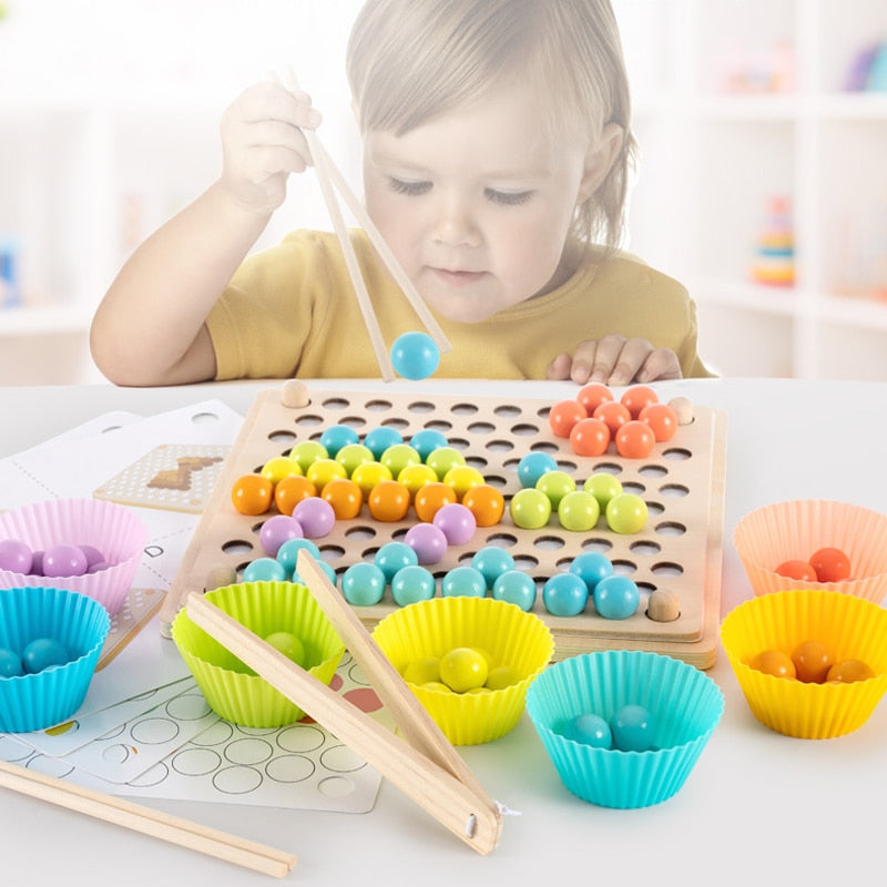 Early Montessori Education Bead Clipping Wooden Toys for Children