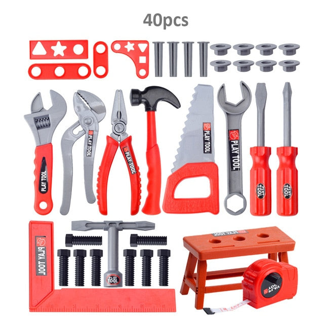 Kids Toolbox Kit Educational Toys Simulation Repair Tools Drill Toys