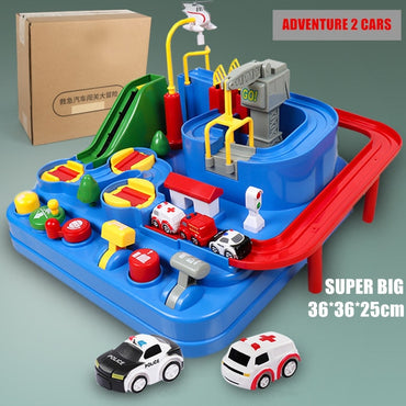 New Racing Rail Car Model Racing Educational Toys  for Children