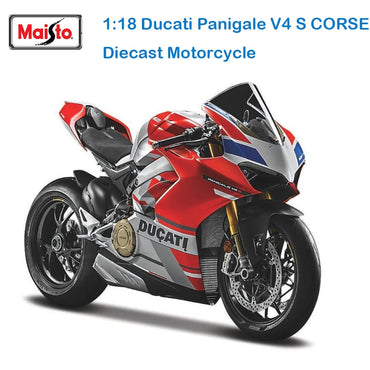 Ducati panigale white original simulation motorcycle kids toy car