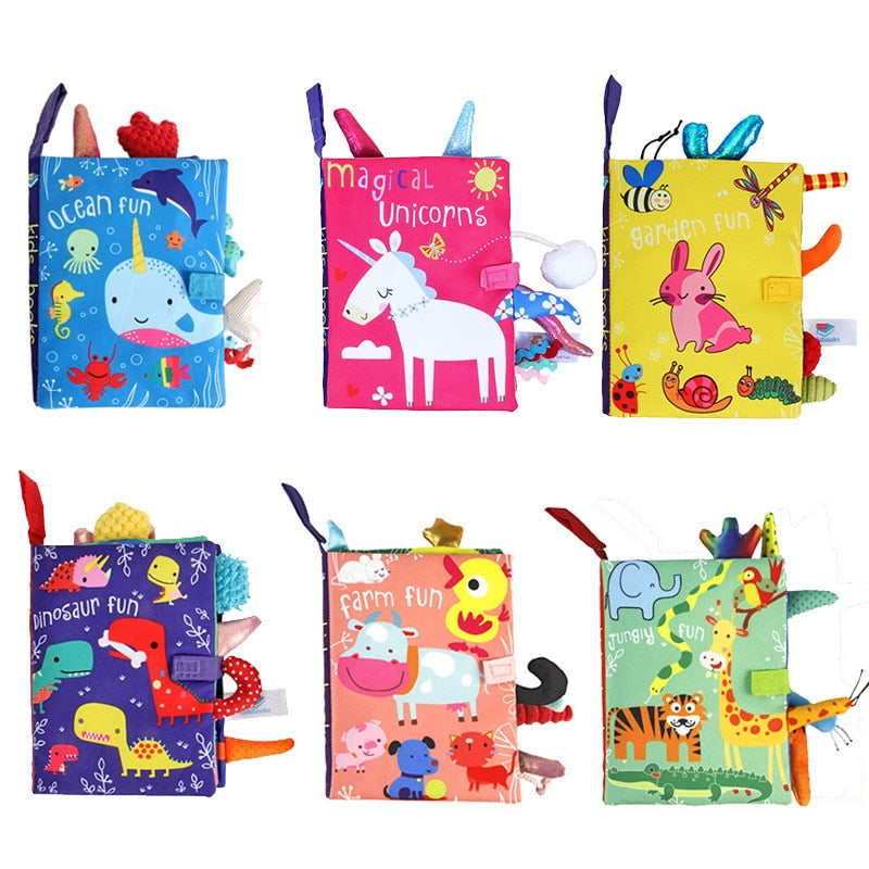 Kids Early Learning Cloth Book Sound Paper Puzzle Cloth Book Toy