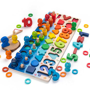 Geometric Shape Cognition Puzzle Kids Math Toys.
