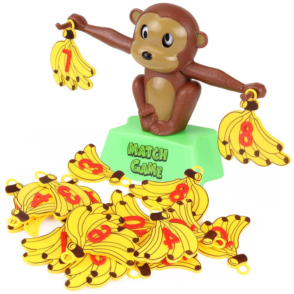 Kids Math Toys Monkey Game Math Balancing Scale Teaching Aid Count