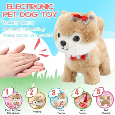Interactive Electronic Plush Puppy for kids